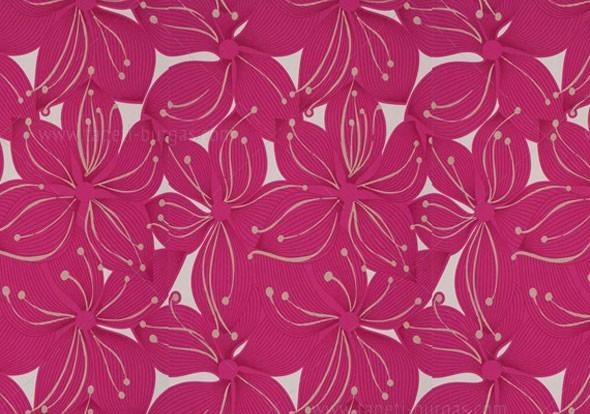Флис тапет Jade цвете розово