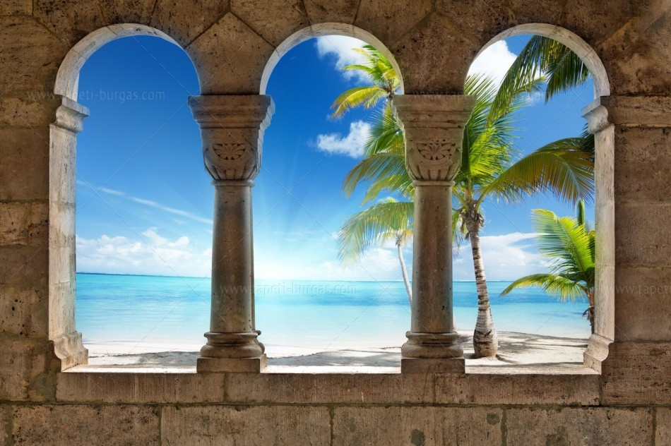 Фототапет Изглед към плажа