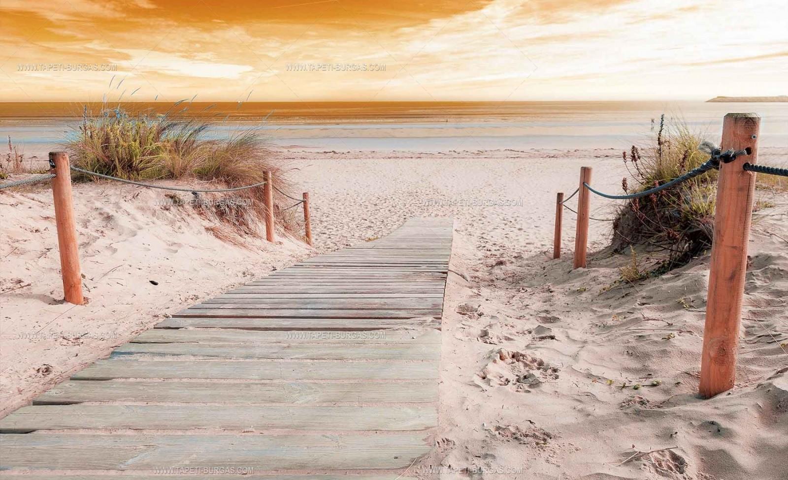 Фототапет Залез на плажа