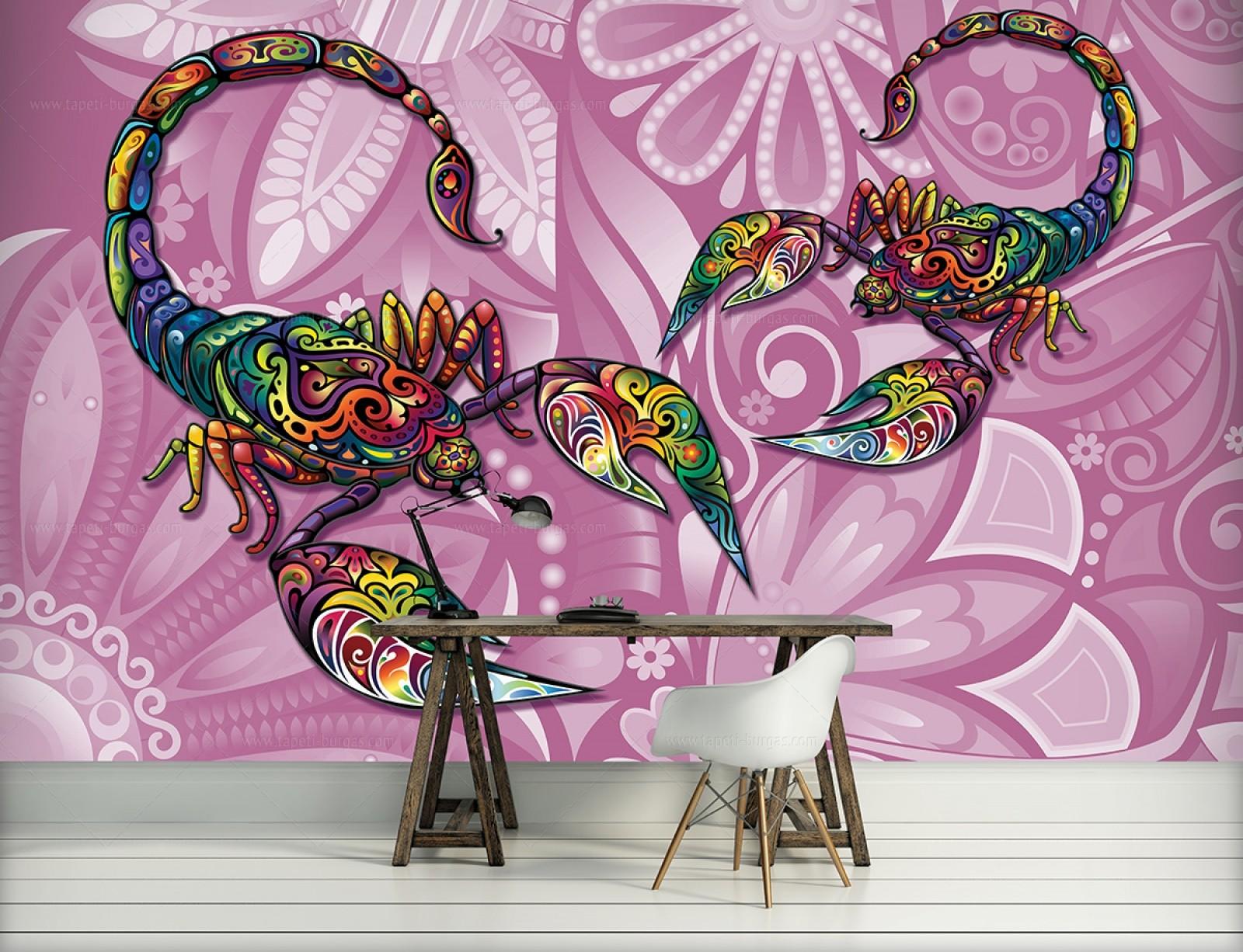 Фототапет Цветни Скорпиони
