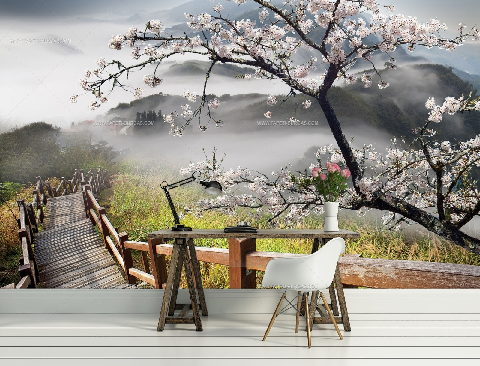 Фототапет Пролетен пейзаж в планината