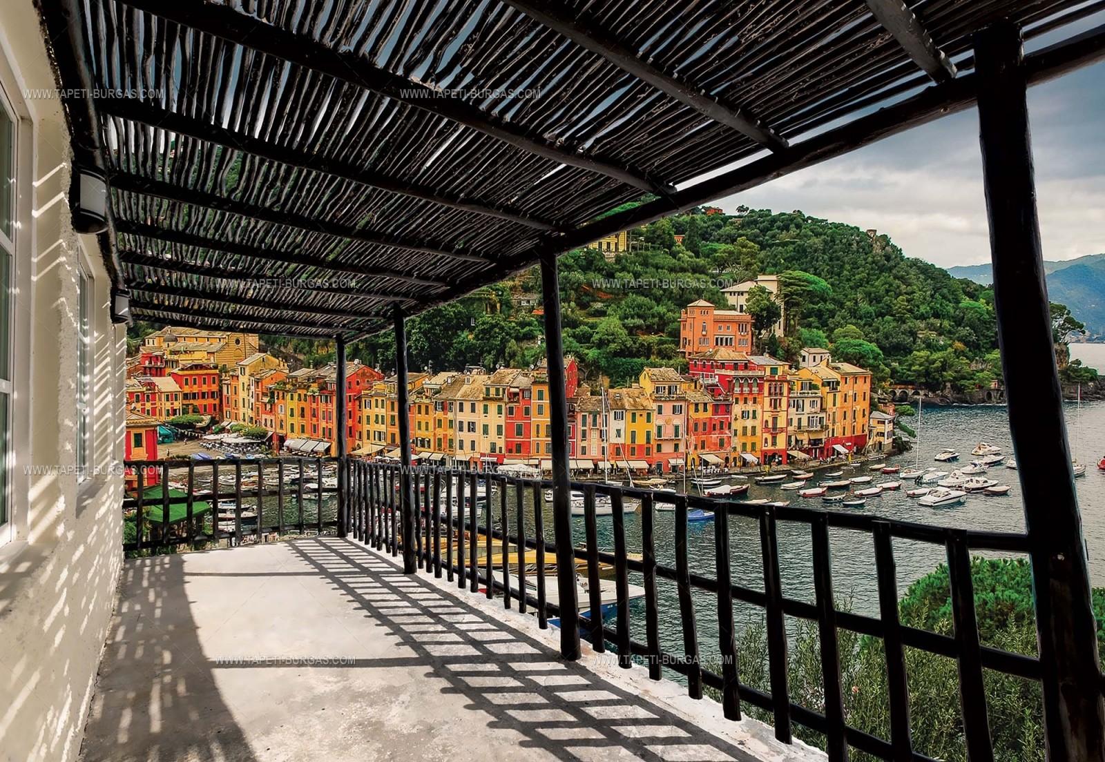 Фототапет Веранда с изглед към пристанището