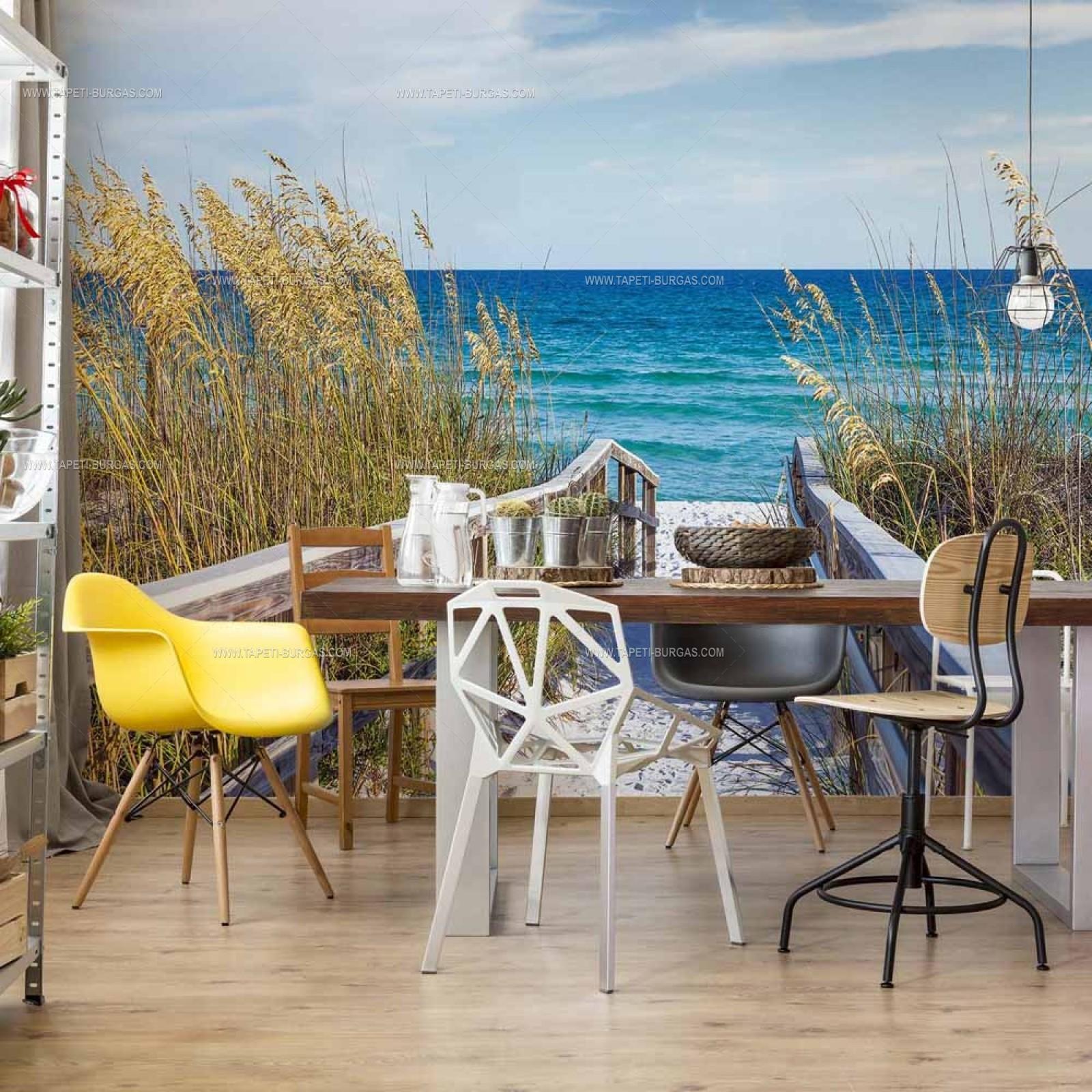 Фототапет на флис основа  Мостчето на плажа