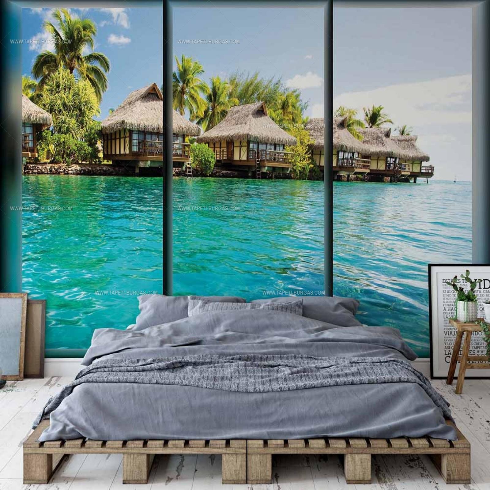 Фототапет Прозорец- Бахамите