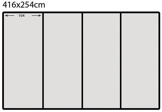"Схема на ""флис"" фототапет с размер 416 х 254 - 4части"