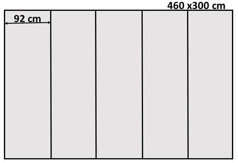 Схема на фототапет хартия, с размер 460 х 300  - 5части