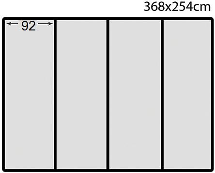"Схема на ""флис"" фототапет с размер 368 х 254 - 4части"