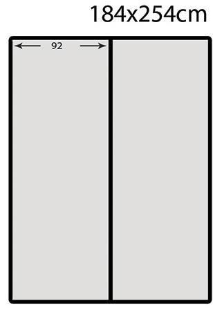 Схема на фототапет хартия, с размер 184 х 254 - 2части